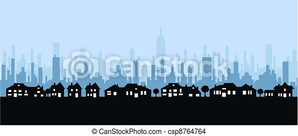 city skyline - csp8764764