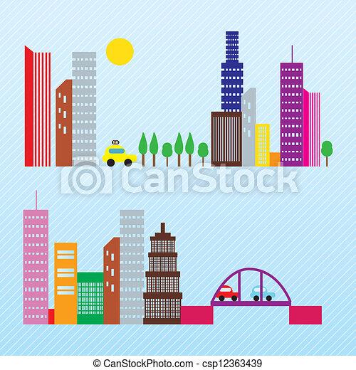 City skyline - csp12363439