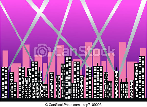 city skyline - csp7109093