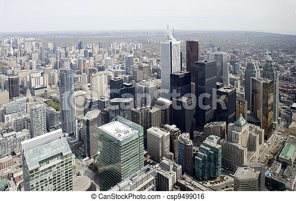 city skyline from cn tower - csp9499016