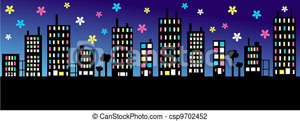 city skyline - csp9702452