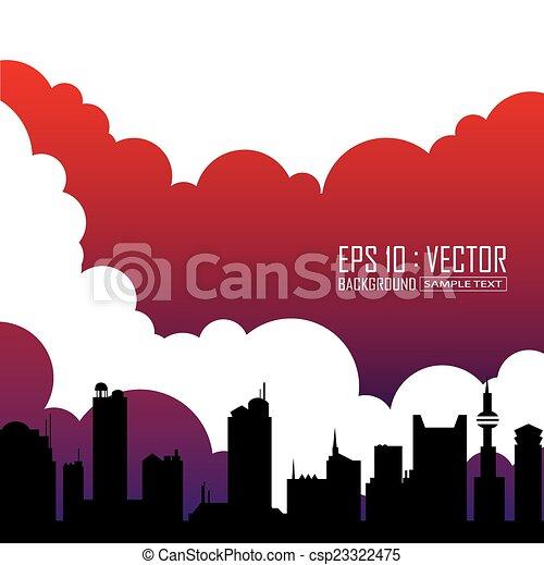 city skyline - csp23322475
