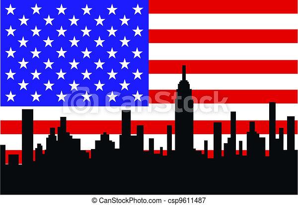 city skyline - csp9611487