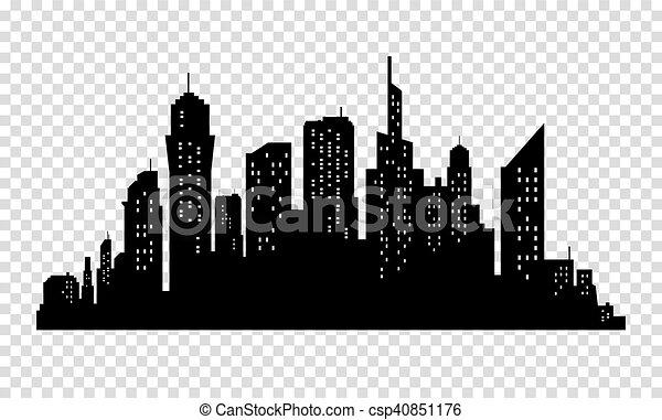 city skyline in grey colors buildings silhouette cityscape big rh canstockphoto com cityscape vector icon cityscape vector outline