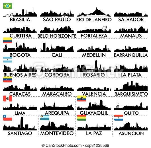 City skyline South America - csp31238569