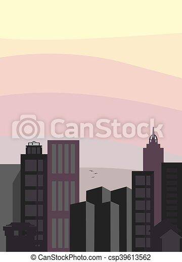 City skyline vector - csp39613562