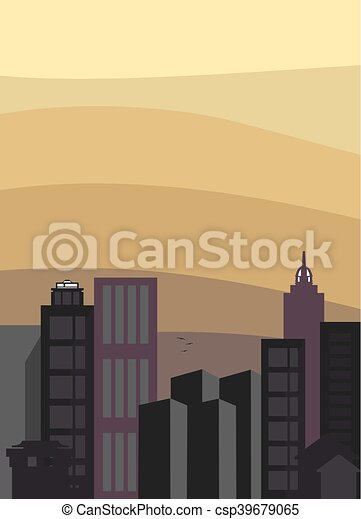 City skyline vector - csp39679065