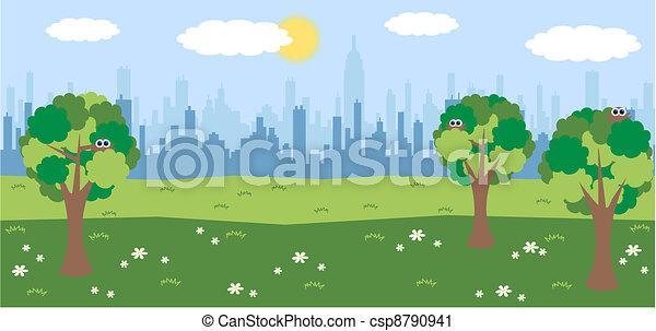 city skyline - csp8790941