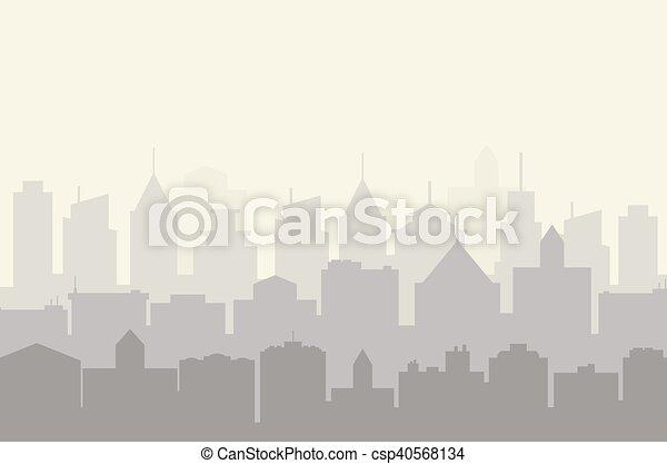 City skyline vector illustration. - csp40568134