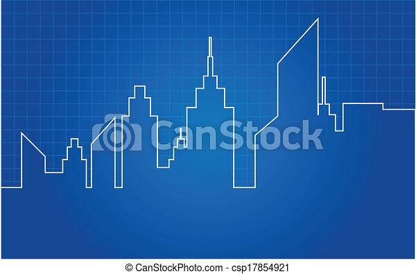 City Skyscrapers Skyline - csp17854921