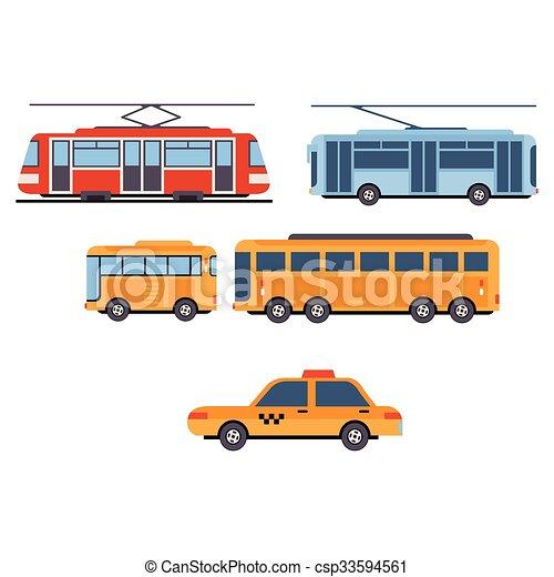 City Transport. Vector Set - csp33594561