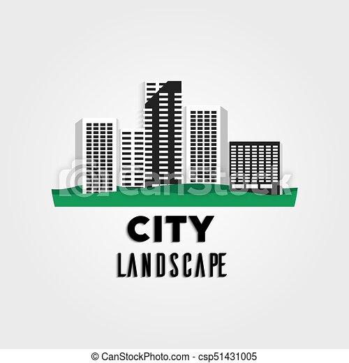 city urban landscape flat long shadow city urban landscape in flat