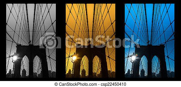 El puente Brooklyn, Nueva York. USA. - csp22450410