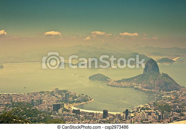city views from Corcovado Rio De Janeiro Brazil - csp2973486