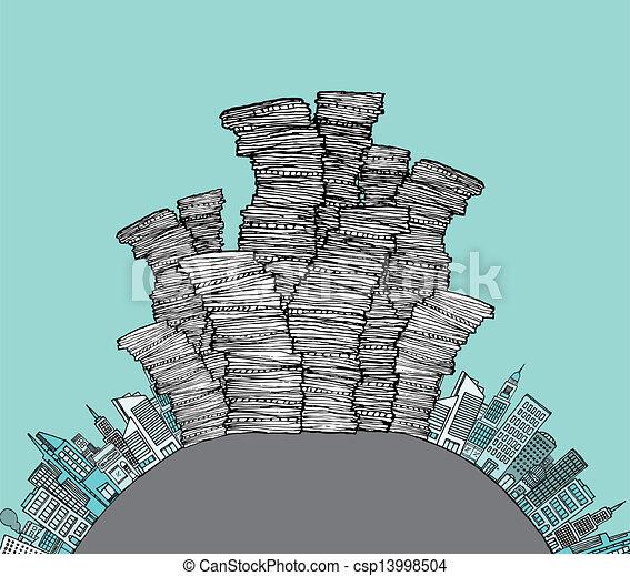 City waste / Garbage skyline - csp13998504