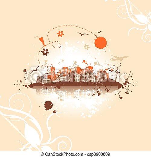Cityscape background, urban art - csp3900809