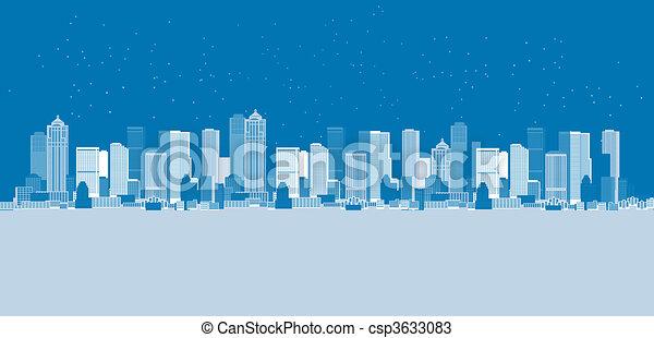 Cityscape background, urban art - csp3633083