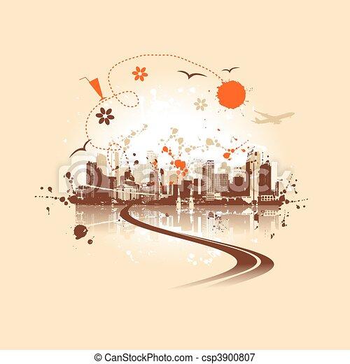 Cityscape background, urban art - csp3900807