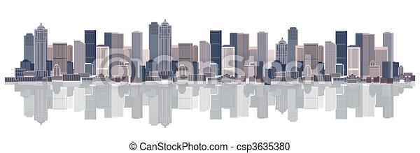 Cityscape background, urban art - csp3635380