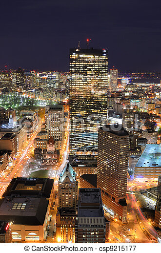 Boston Cityscape - csp9215177