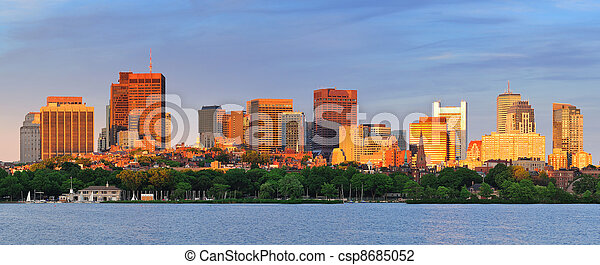 Boston Cityscape Panorama - csp8685052