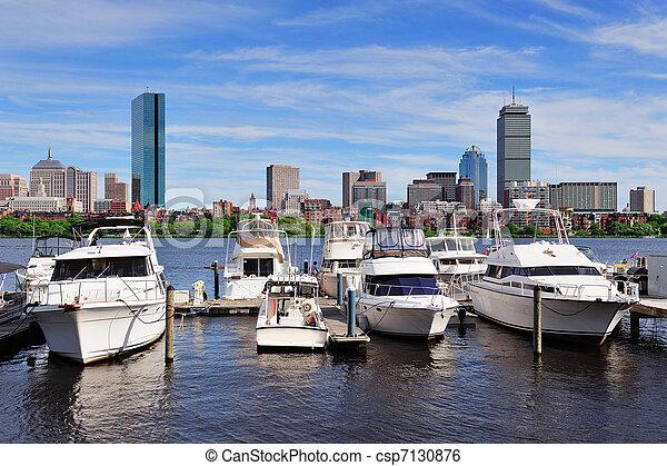 cityscape, boston - csp7130876