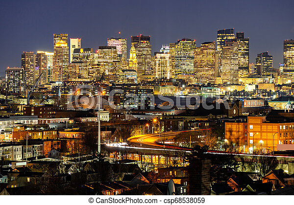 Boston Cityscape - csp68538059