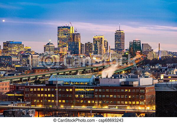 Boston Cityscape - csp68693243