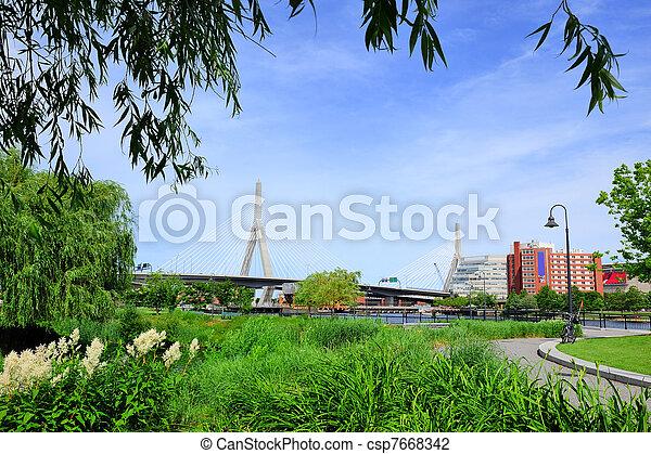 cityscape, boston - csp7668342