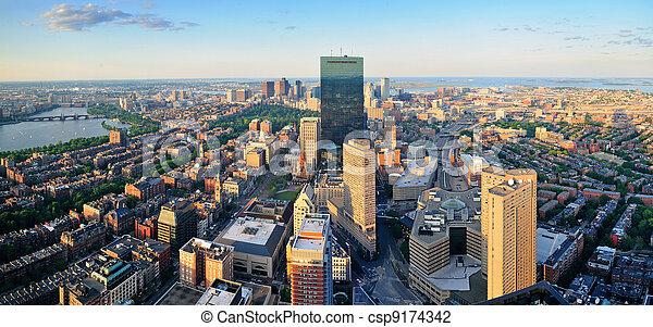 Boston Cityscape - csp9174342