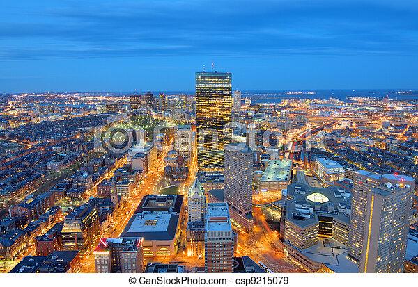 Boston Cityscape - csp9215079
