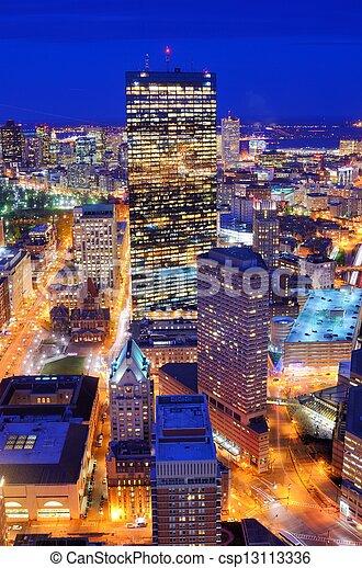 Boston Cityscape - csp13113336