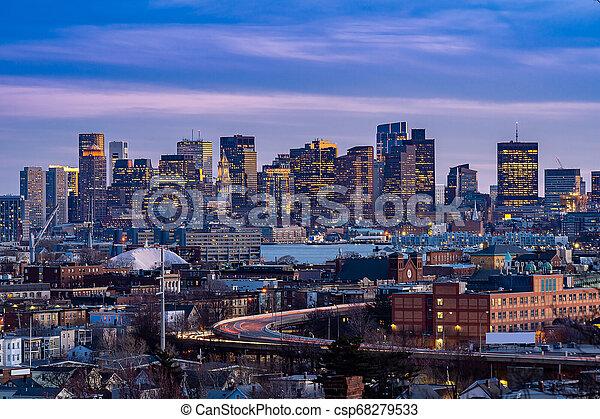 cityscape, boston - csp68279533