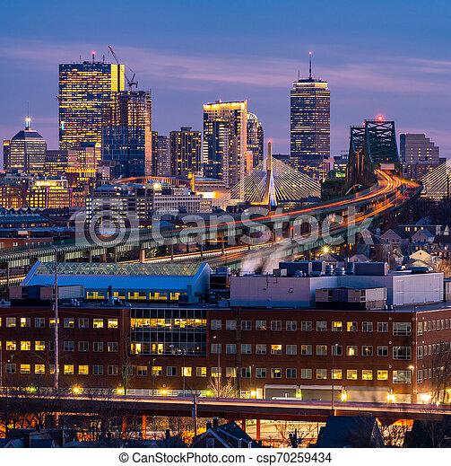 cityscape, boston - csp70259434
