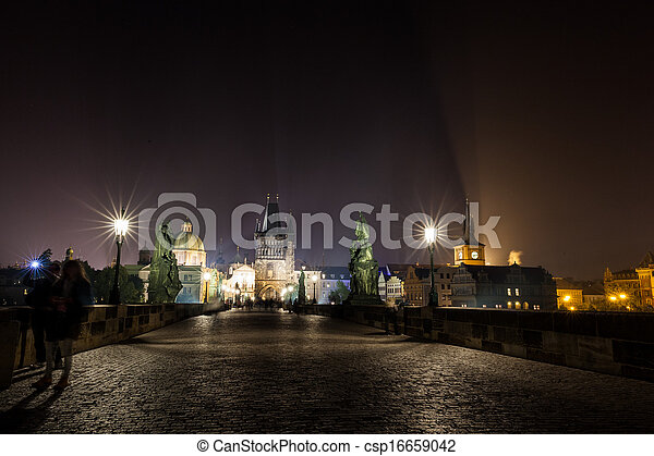 Cityscape by night - csp16659042