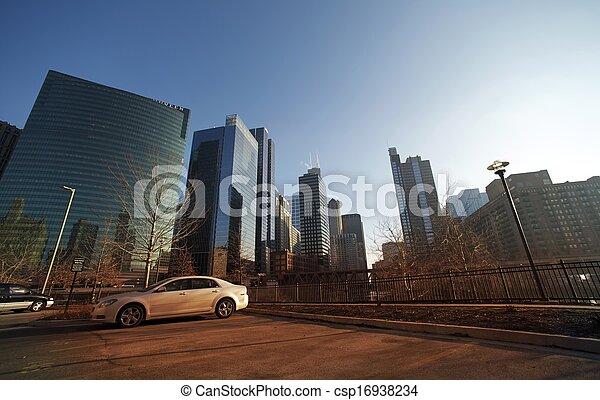 cityscape, chicago - csp16938234