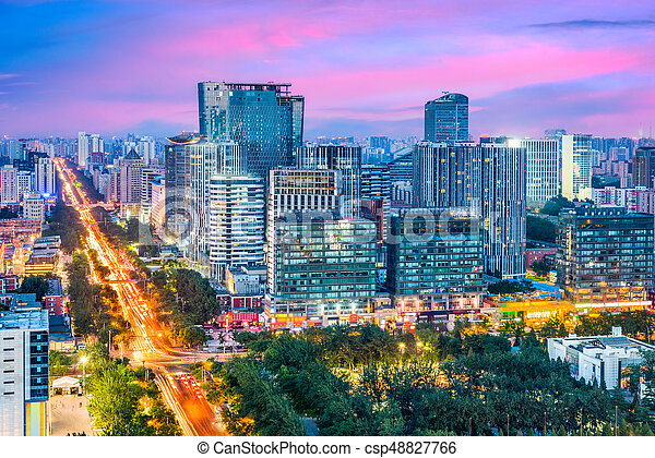 Beijing, China Cityscape - csp48827766