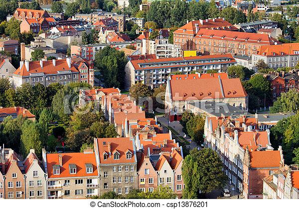 cityscape, cidade, polônia, gdansk - csp13876201