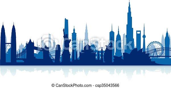 cityscape, famoso, limiti, backgrou - csp35043566