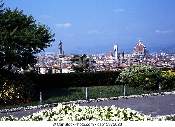 Cityscape, Florence, Italy. - csp15375020