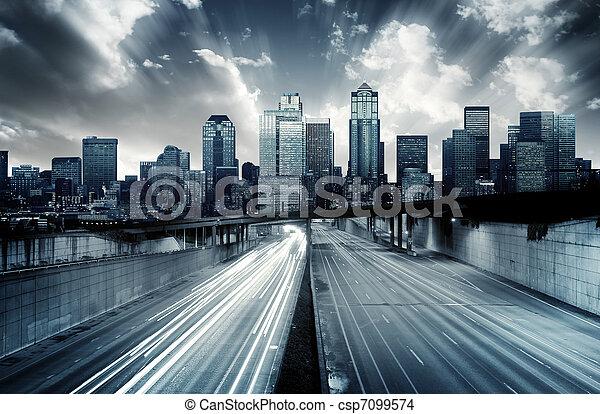 cityscape, futuriste - csp7099574