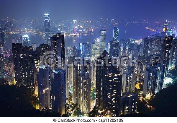 cityscape, hong kong - csp11282109