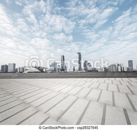 cityscape, horizon, carrée, moderne, fond - csp28327645