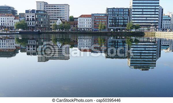 Cityscape in Antwerp. - csp50395446