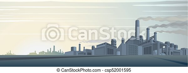 cityscape, industriel, vecteur - csp52001595