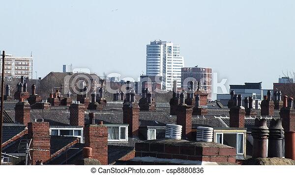 Cityscape, inner city, Leeds - csp8880836