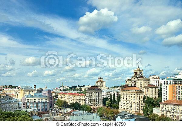 cityscape, kyiv, zentrieren - csp4148750