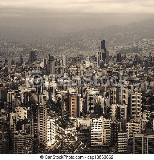 cityscape, libanon - csp13863662