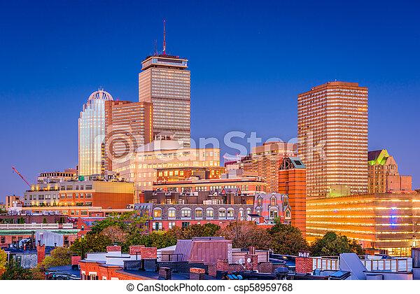Boston, Massachusetts, USA Cityscape - csp58959768