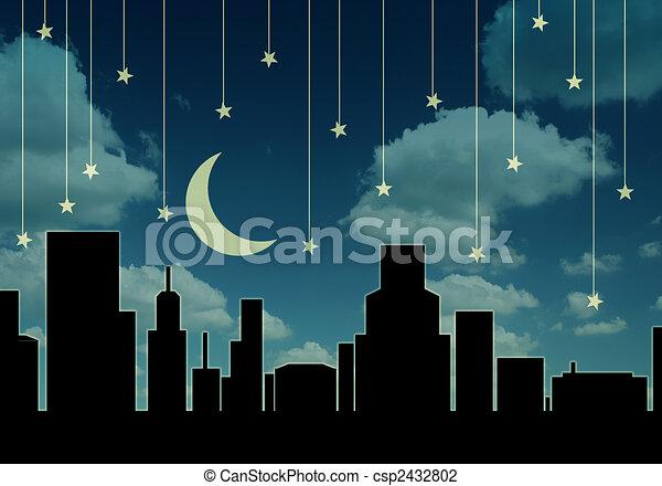 cityscape, notte - csp2432802